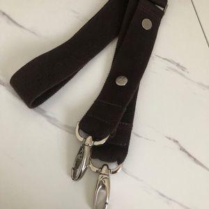 Dark brown gucci adjustable purse strap